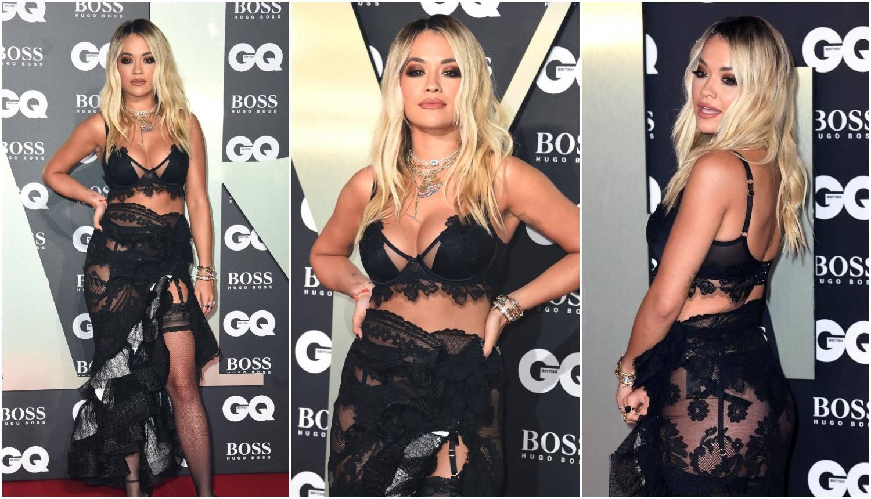 Pokazala crne gaćice: Rita Ora šetala u grudnjaku i halterima