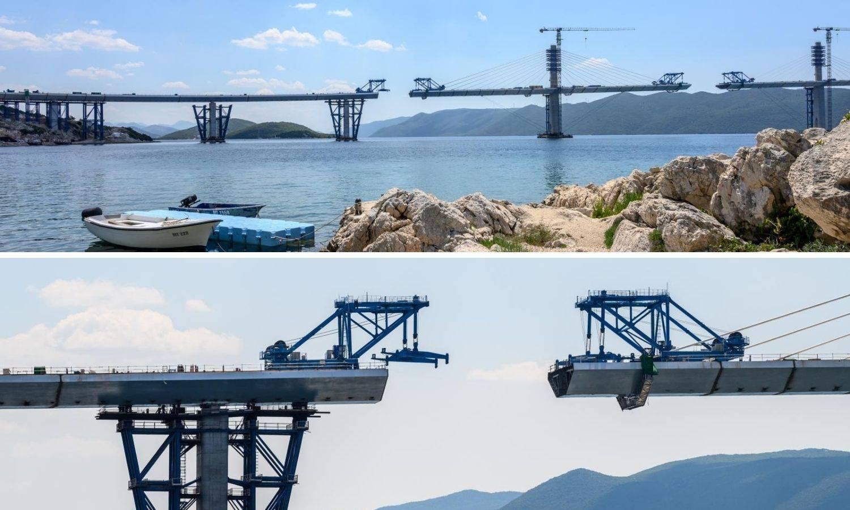 FOTO Još malo i gotovo: Slažu zadnje dijelove Pelješkog mosta