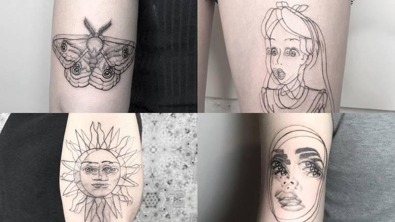 Tetovaže od kojih se vrti u glavi - umjetnica stvara optičke varke
