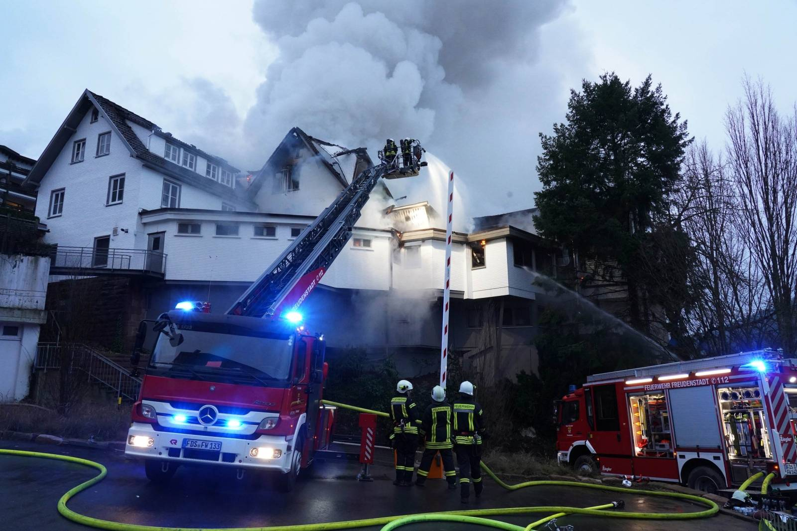 Fire in three-star restaurant in the Black Forest