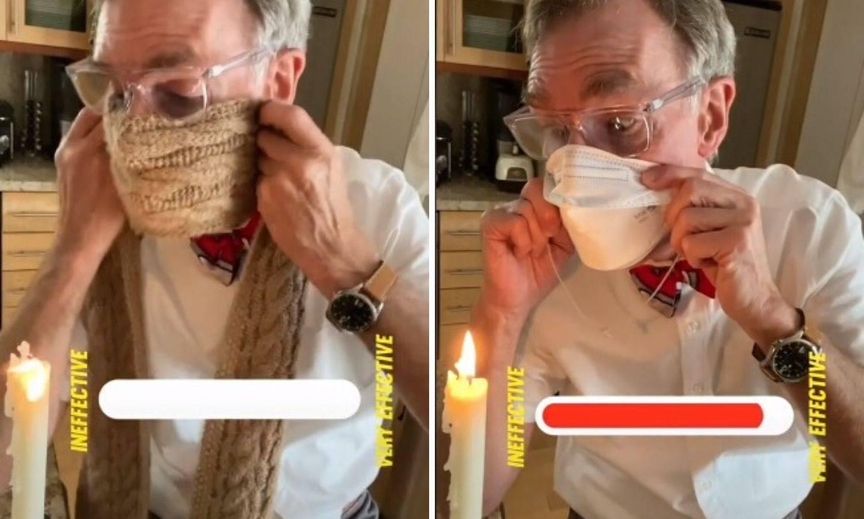 Za sve laike: Znanstvenik Bill Nye objasnio zašto moramo nositi masku uz svijeću  i šal