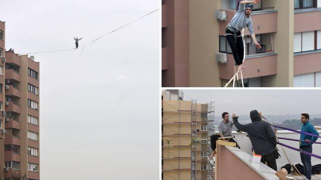 Hodali između zgrada na 40 m: Ljudi su pokrivali lice od straha