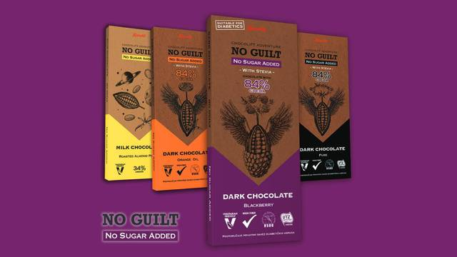 Kupina u čokoladi bez dodanog šećera – novi doživljaj uživanja u čokoladi Kandit No guilt