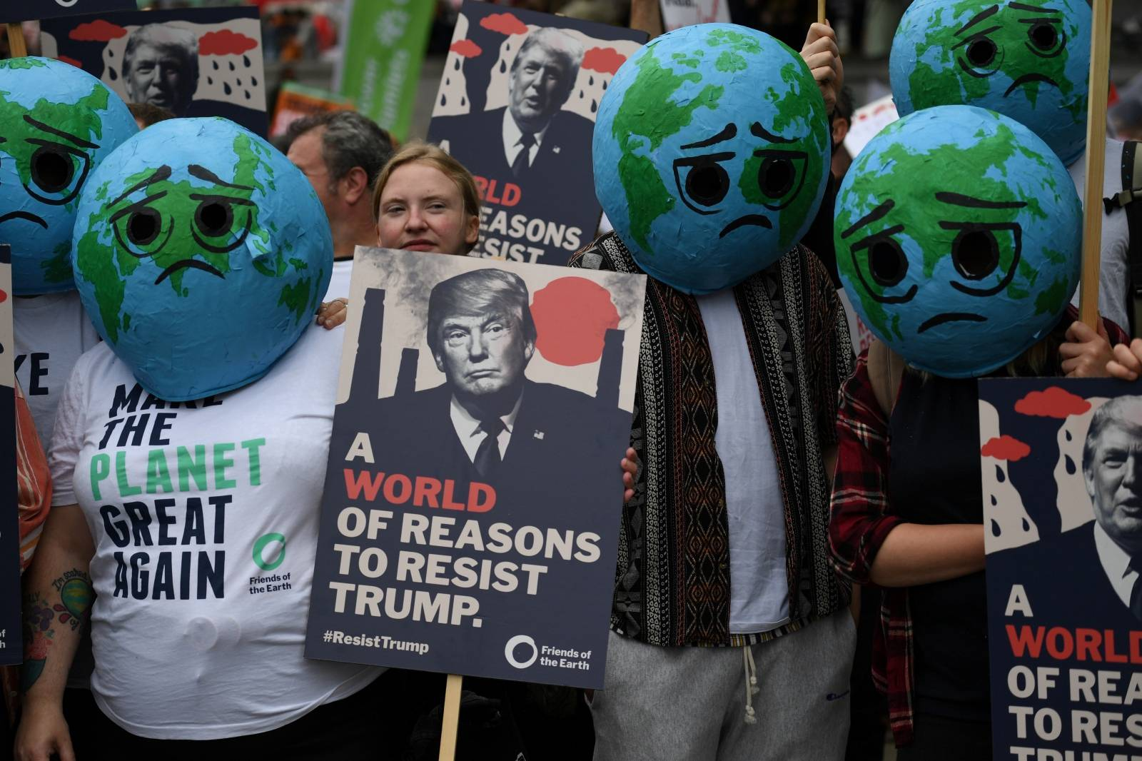 Protest against U.S. President Donald Trump in London