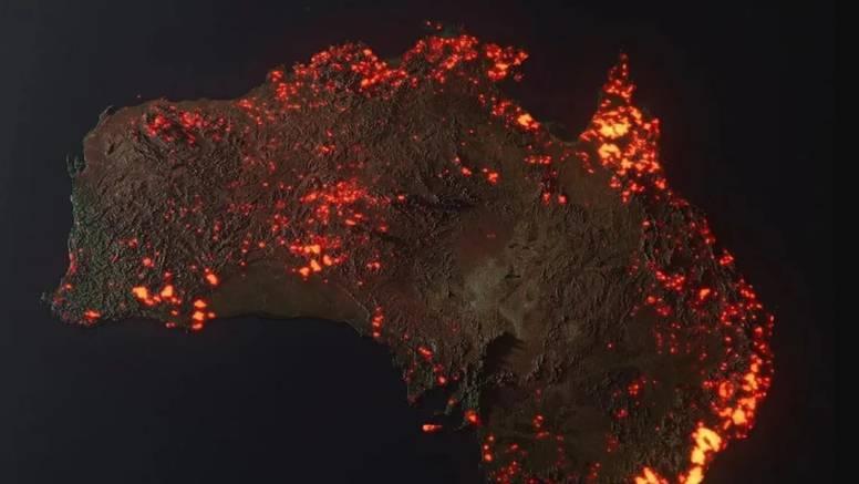 Australiju progutala vatra - svi požari do sada na jednoj snimci