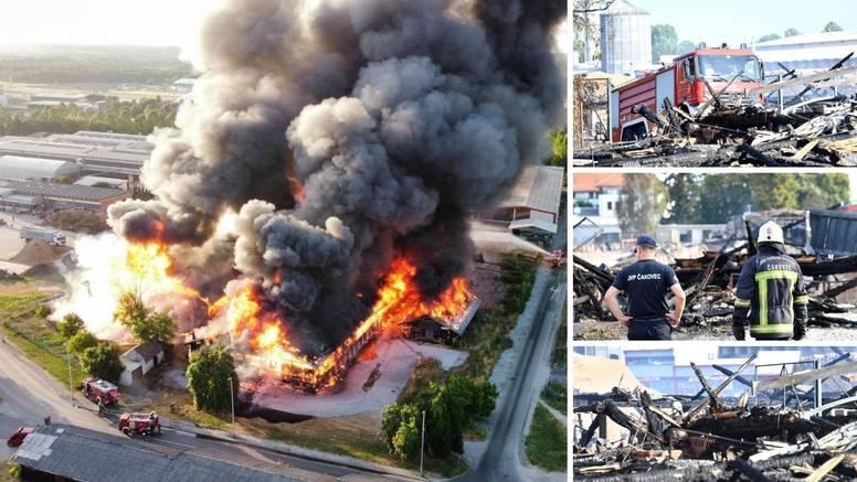 Požar u Čakovcu: Vatreni jezici dizali su se preko 20 metara  u zrak i gutali sve pred sobom