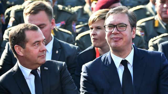 Medvedev stigao u Beograd na proslavu oslobođenja tog grada