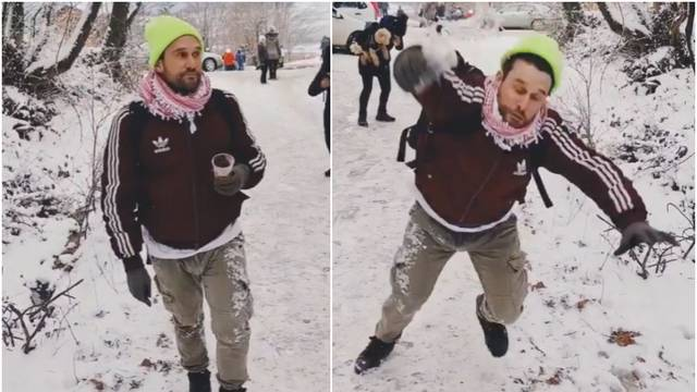 Urnebesan pad Nižetića postao je hit: 'Dalmatinac na snijegu'