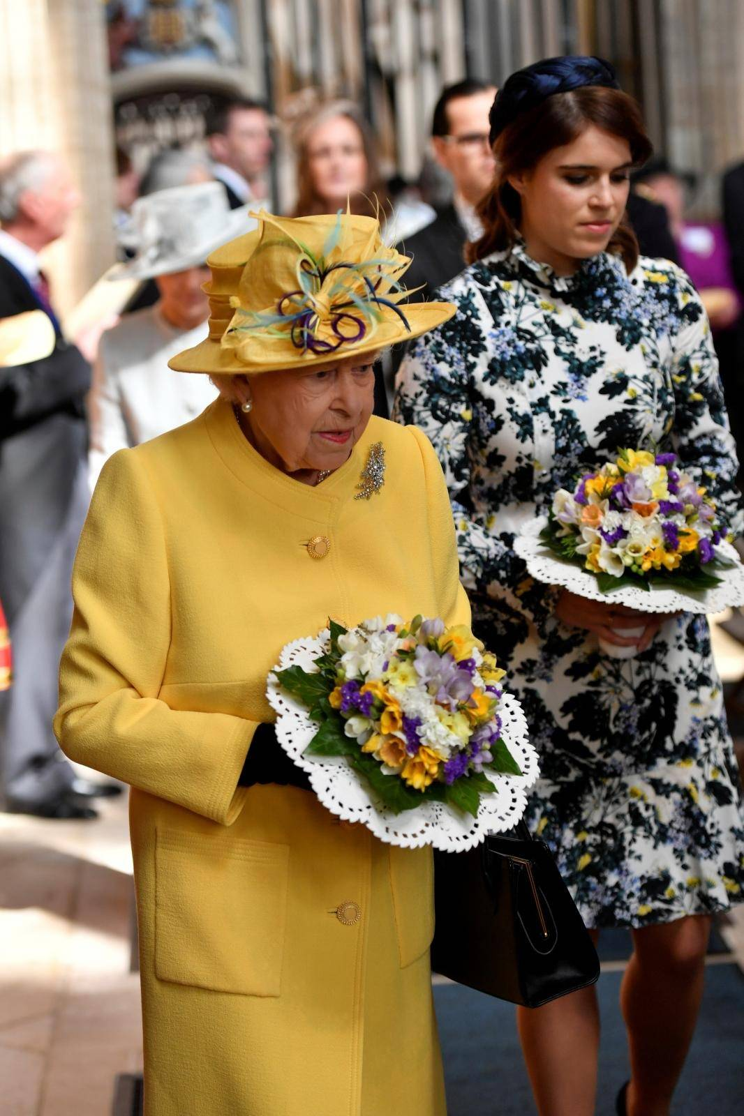 Britain's Queen Elizabeth attends the Royal Maundy service at St George's Chapel in Windsor