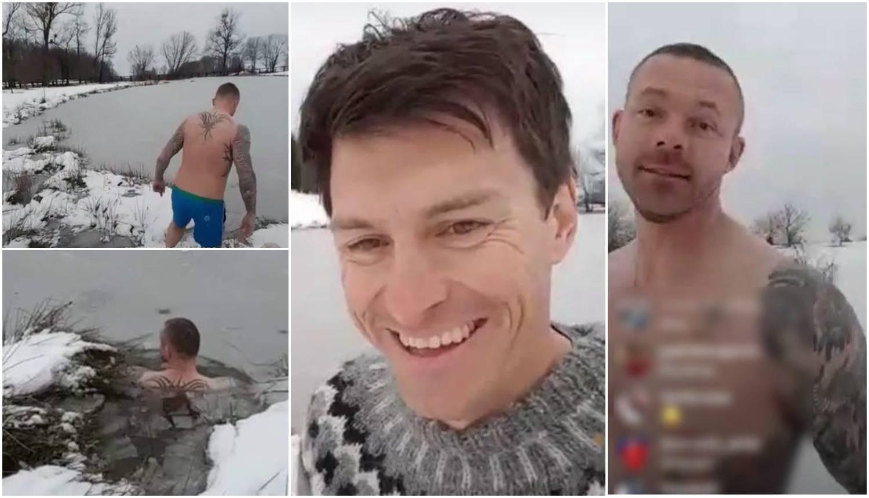 Ivica se nije odvažio: Šogor s Islanda uletio u zaleđeno jezero