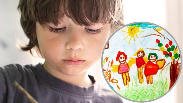 Crteži otkrivaju kako se dijete osjeća - sretno, tužno, ljuto...