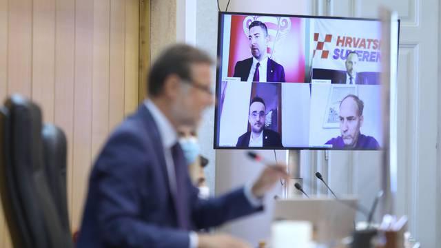 Zagreb: 4 zastupnika glasalo preko video linka o amandmanima na zakon o obnovi