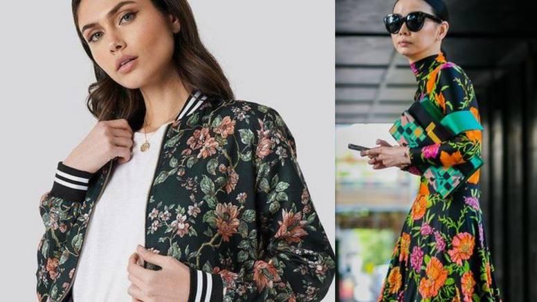 Ženstveni stil u tamnim bojama: Cvijeće na haljinama i sakoima