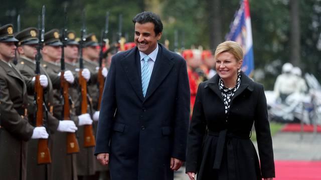 Zagreb: Predsjednica Grabar-Kitarović sastala se katarskim emirom