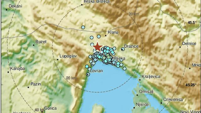 Dva potresa zatresla su Rijeku: 'Čulo se kao eksplozija, tresli su se prozori, drugi se jače osjetio'