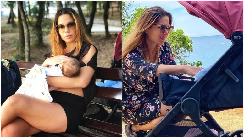 Glumica Lana Gojak dojila je kćerkicu u parku: 'Nakon pet minuta šetnje počelo je urlanje!'