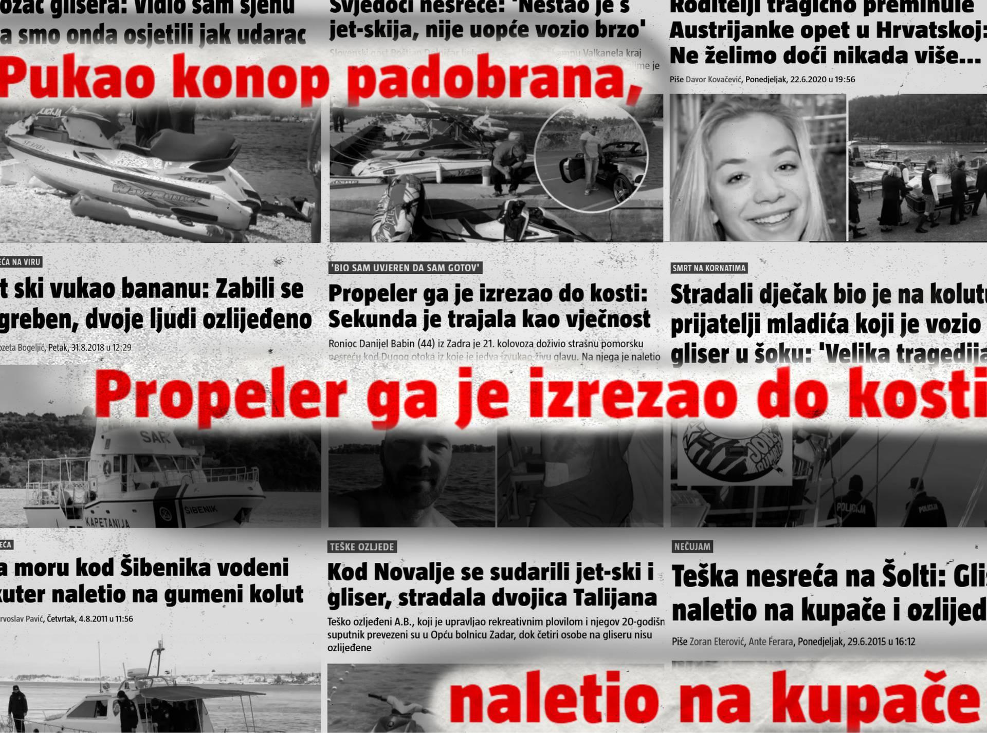 Kod nas na moru djeca voze jet-ski, pucaju padobrani, ronioce sijeku propeleri, a turisti umiru