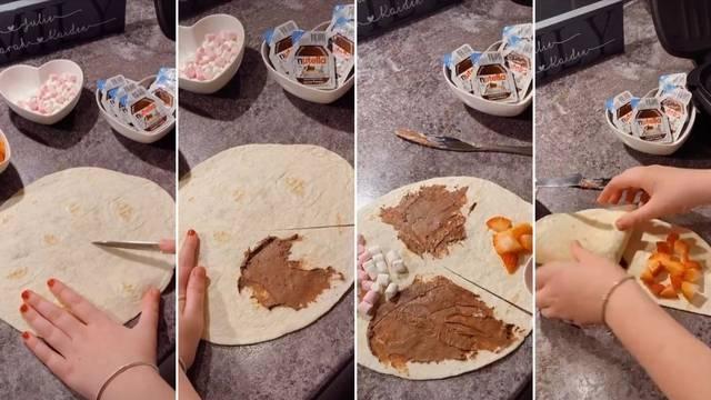 Tostirana tortilja puna slatkiša - recept koji svi mogu napraviti