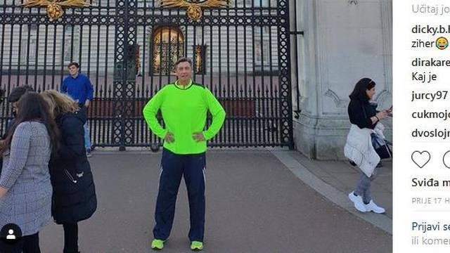 """Pahor, """"kralj Instagrama"""": U sportskoj odjeći ispred palače"""