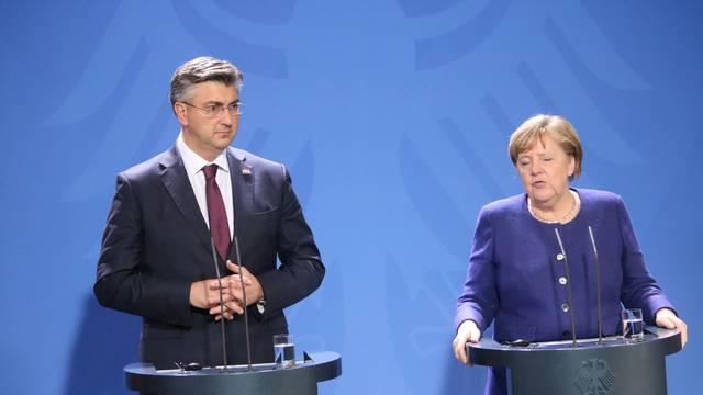 Susreli se Merkel i Plenković uoči važnog samita u Zagrebu