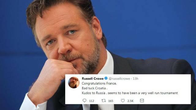 Russell Crowe čestitao svima: Hrvatska jučer nije imala sreće