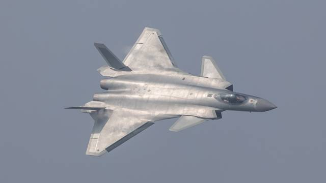 China unveils its J-20 stealth fighter during an air show in Zhuhai