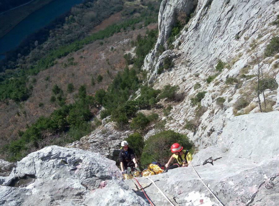 Akcija: GSS-ovci su spasili pastira iz kanjona Cetine