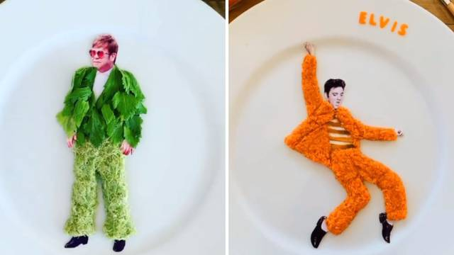 Umjetnica stvara nevjerojatne mini modne kreacije od hrane