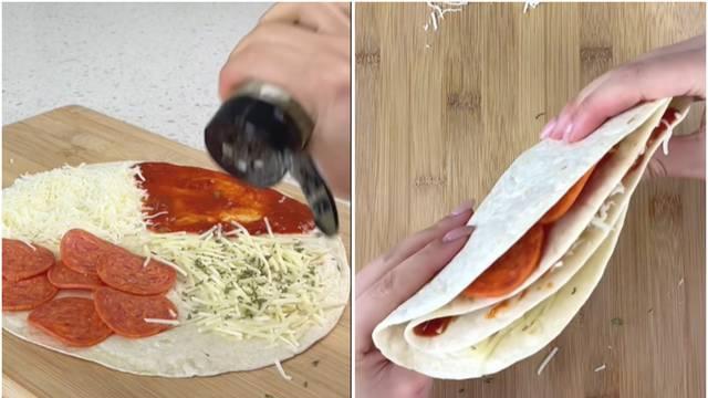 Napravite finu quesadillu u nekoliko sekundi: Podijelite ju na četvrtine, napunite i voila!