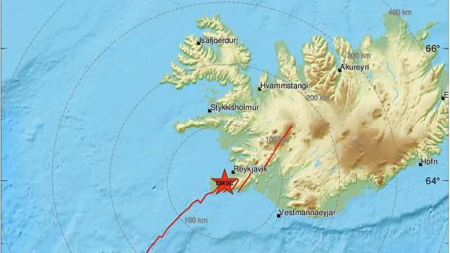 Potres magnitude 5,2 pogodio Island: 'Moguće da je bilo par velikih potresa u isto vrijeme'