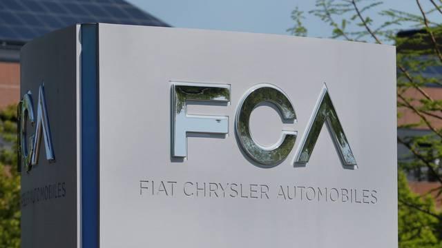FILE PHOTO: A Fiat Chrysler Automobiles (FCA) sign at its U.S. headquarters in Auburn Hills, Michigan