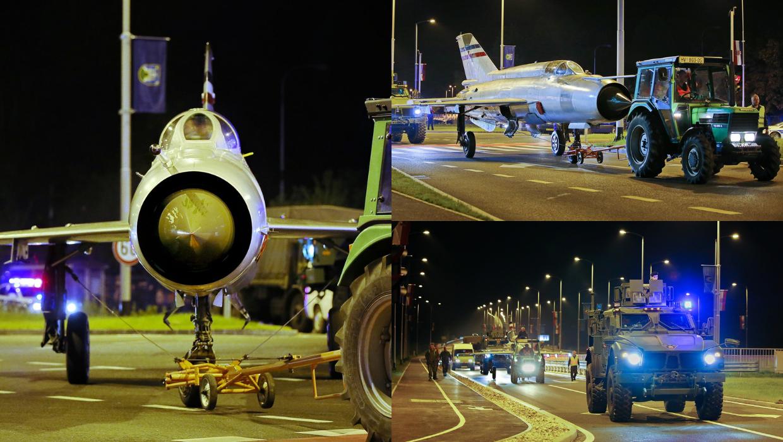 Pazi, MiG na cesti! Perešinov avion noćas vozili kroz Zagreb