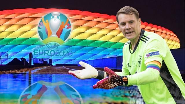 Njemačka dočekuje Mađarsku s duginim bojama: Posebna traka Neuera i 'novo ruho' stadiona