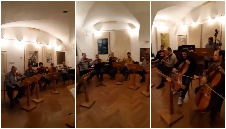 Zagrebački solisti zasvirali su za zaljubljene poznatu skladbu