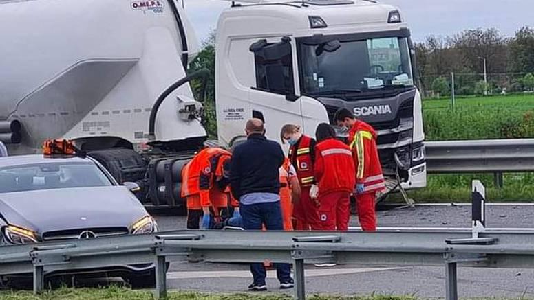 Sudar dva auta i kamiona u Osijeku, jedan ozlijeđeni