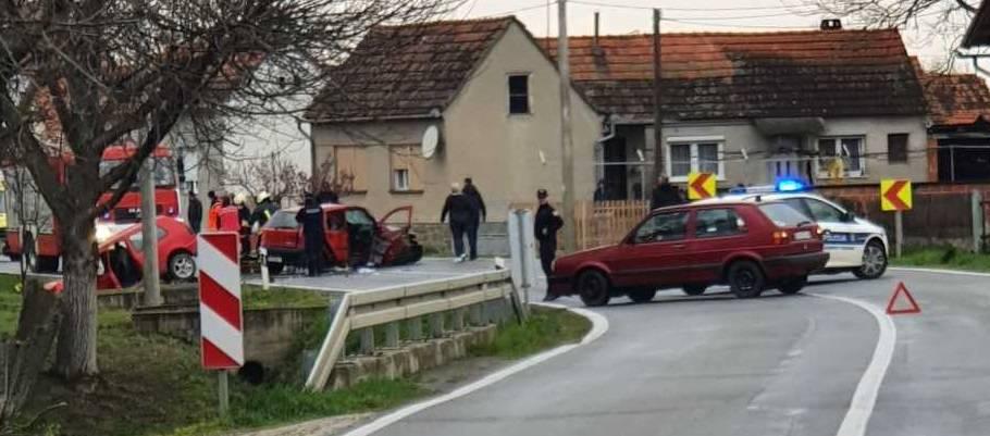 U sudaru dva automobila kod Virovitice šestero ozlijeđenih