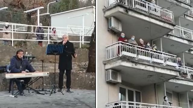 Veselo u domu Kantrida: Nakon prvog dana cijepljenja zapjevao novljanski slavuj Joso Butorac