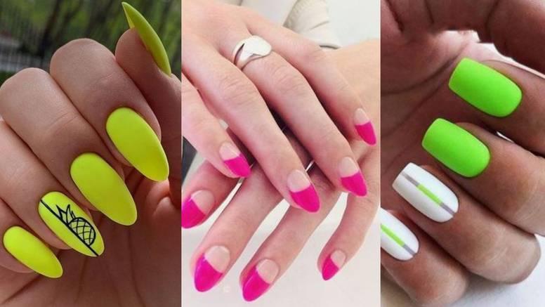 Tri jake boje za neon manikure