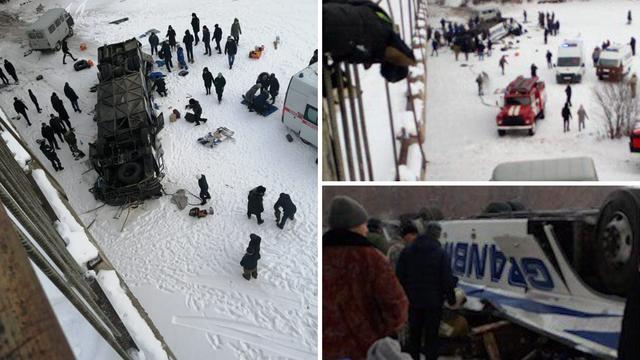 Stravične scene iz Rusije: Pao autobus s mosta, 15 poginulih