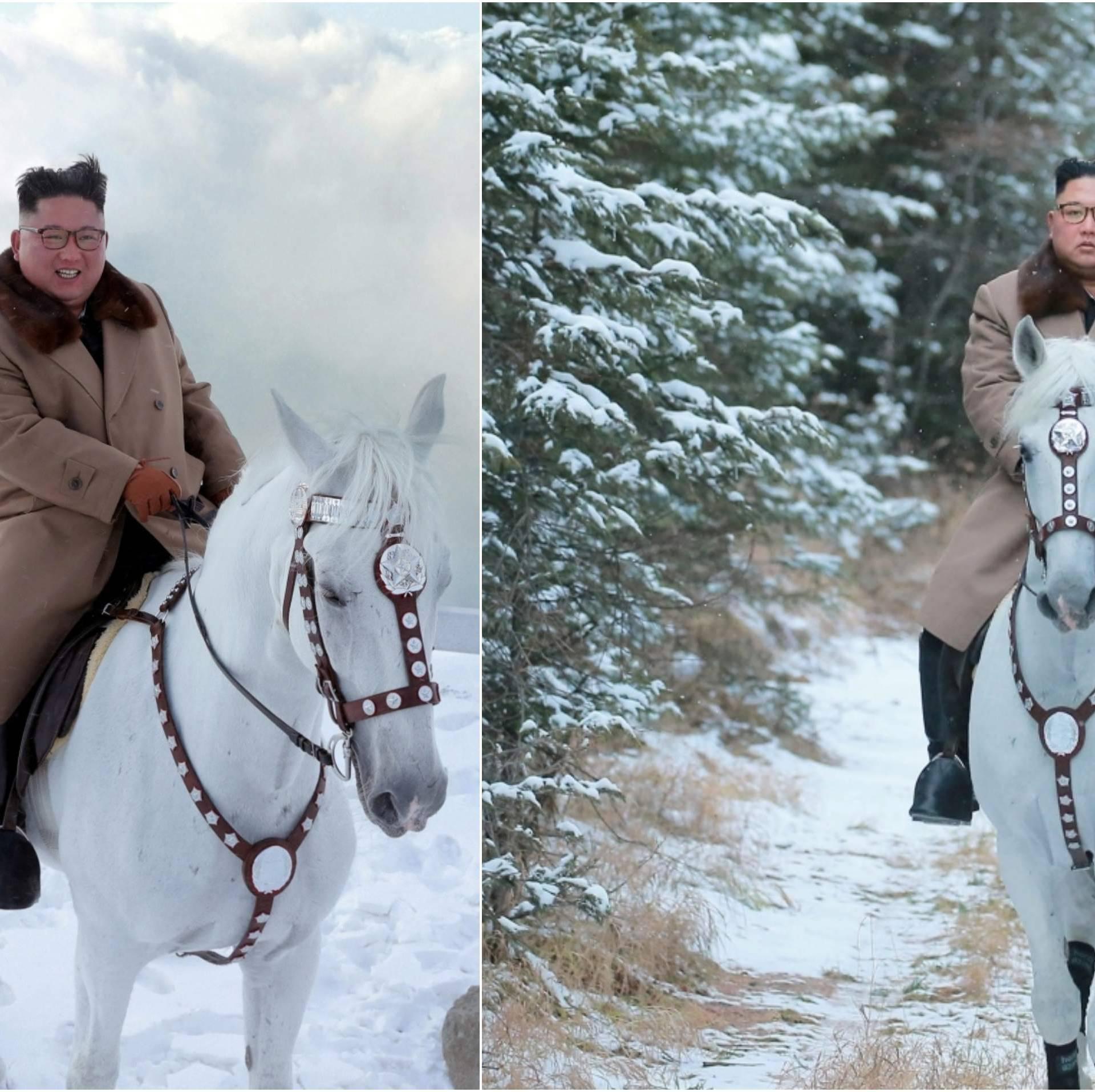 Požurite konji bijeli: Kim Jong Un jaše konja svetom planinom