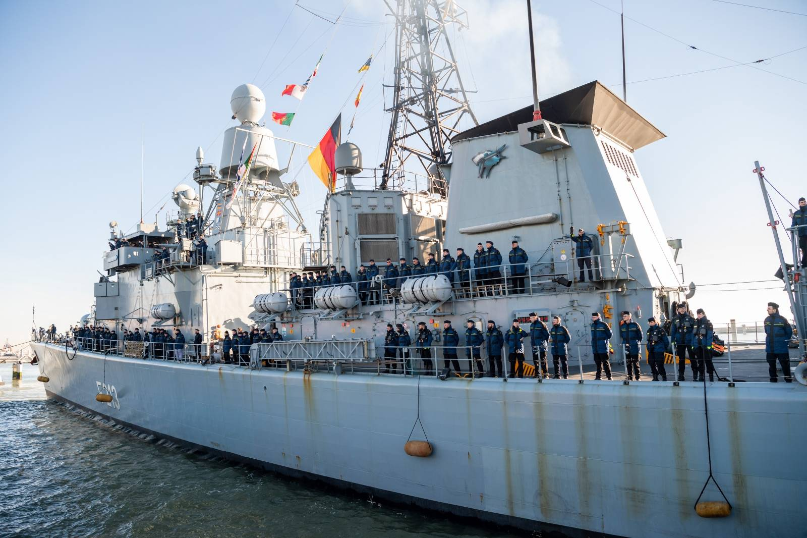 Return of the frigate Augsburg
