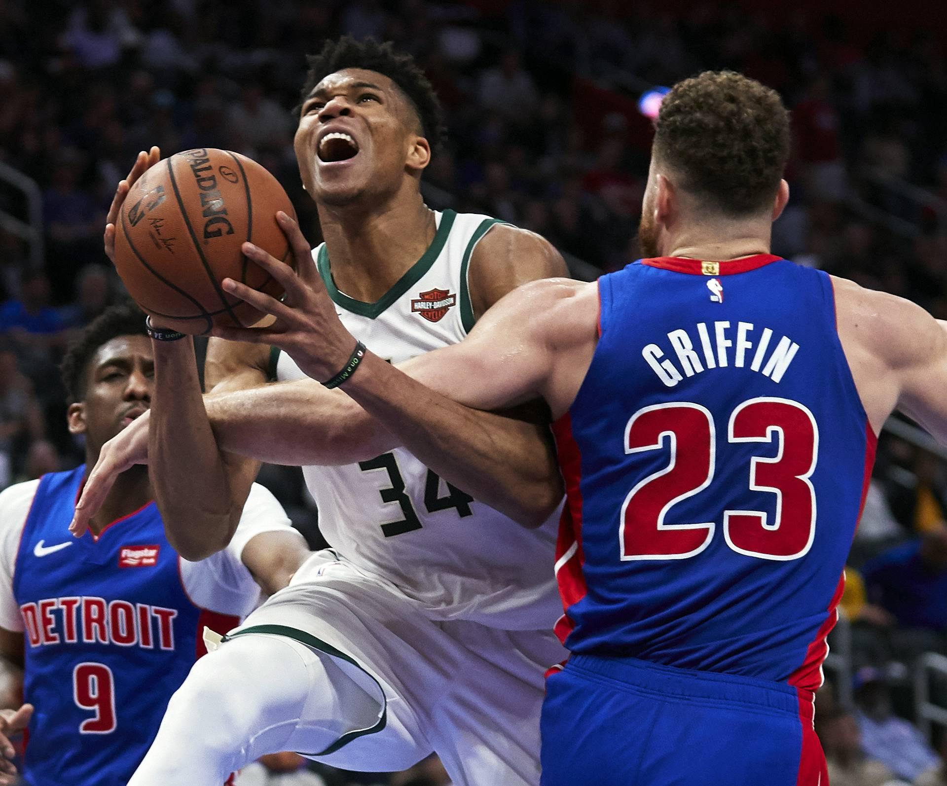 NBA: Playoffs-Milwaukee Bucks at Detroit Pistons