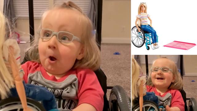 Elli (2) koja ne može hodati poklonili su Barbiku u kolicima