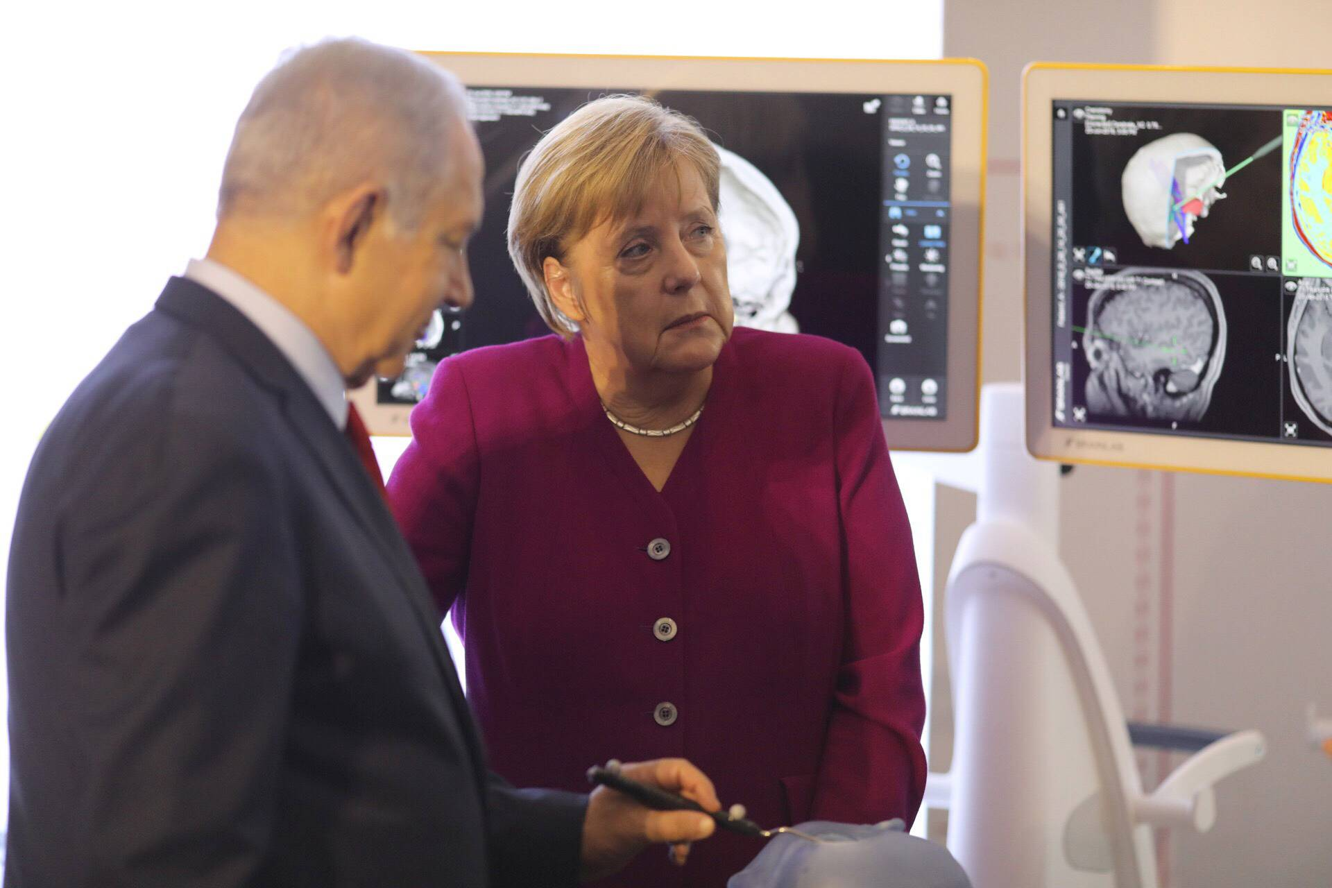 German Chancellor Angela Merkel visits Jerusalem