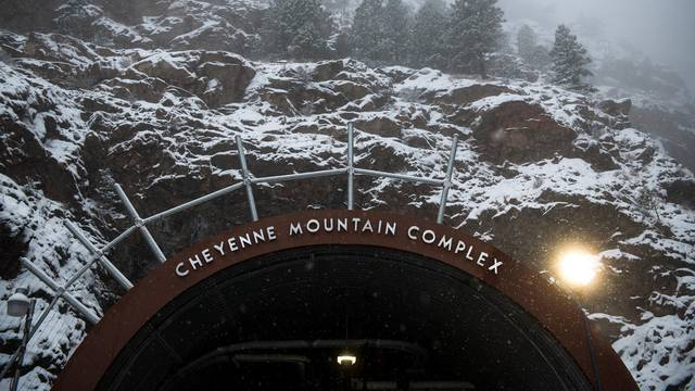 The Cheyenne Mountain Complex is a military installation and nuclear bunker located at the Cheyenne Mountain Air Force Station in Colorado Springs, Colorado. /Staff Sgt. Andrew Lee