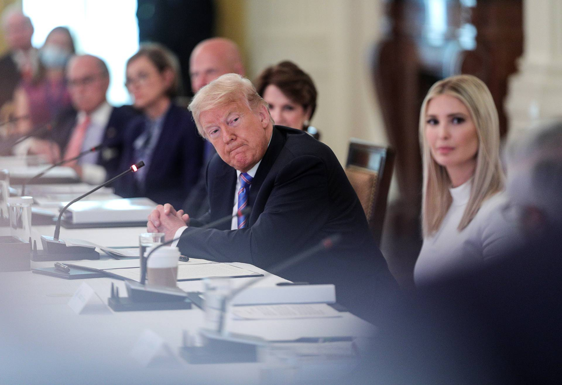 U.S. President Trump hosts workforce advisory board meeting at the White House in Washington