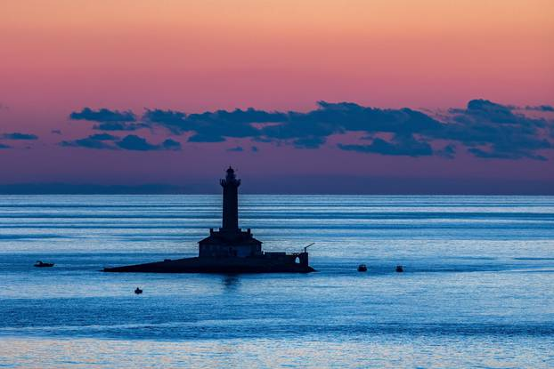 Porer lighthouse, most beautiful sunset, island Porer, www.zadarvillas.com