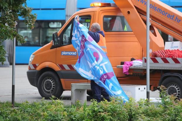 Skinuli zastave duginih boja u Zagrebu uoči Hoda za život