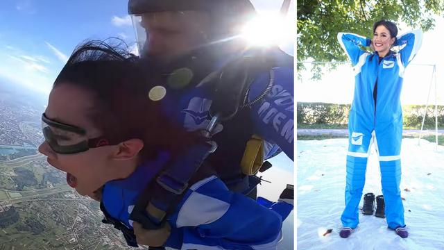 Bivša miss Jelena Lešić plakala nakon skoka s padobraom: Dio pada mi je potpuno u mraku...
