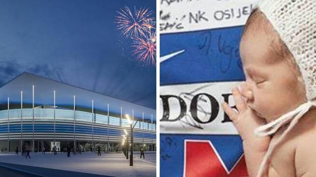 NK Osijek slavi 73. rođendan, klub bebama poklanja 1947 kn